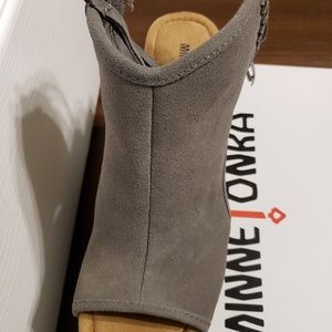 Minnetonka Shoes - Minnetonka peep toe wedge.